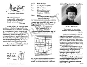 illustrated sample of correct flyer format magnificat intranet